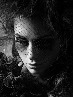 Dark mourning Goth girl