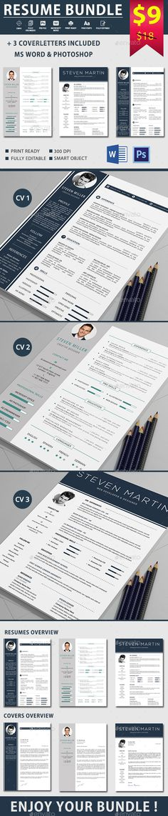 Professional Resume Template Instant Download 1  2 pages CV - resume 1 or 2 pages