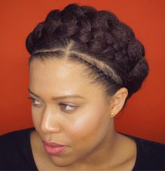 African American Two Crown Braids