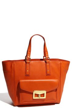 Marc by Marc Jacobs - Orange Bianca Hayley Tote Handbags Online, Handbags On Sale, Tote Handbags, Marc Jacobs Tote, Cheap Designer Handbags, Orange Bag, Best Brand, Pebbled Leather, Handbag Accessories