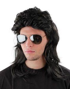<p>Set bestehend aus einer schwarzer Prollperücke im 'Vokuhila'-Stil'<br> <b>mit dazu passender, verspiegelter Pilotenbrille.</b><br><br> Perückenlänge: ca. 50cm<br><br> Lieferumfang: 1 Perücke + 1 Pilotenbrille</p><p>Material: 100% Polyester</p>