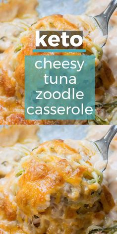 You will love this Keto Tuna Zoodle Casserole packed with zucchini noodles, a creamy cheese sauce and chunks of tuna. This low carb comfort food is only net carbs and will become your new favorite! Keto Dinner Recipes for Rapid Weight Loss Healthy Low Carb Recipes, Ketogenic Recipes, Low Carb Keto, Diet Recipes, Cooking Recipes, Lunch Recipes, Recipes Dinner, Steak Recipes, Best Easy Recipes