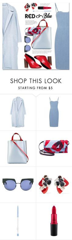 """Red&Blue - Summer City Style"" by ansev ❤ liked on Polyvore featuring MANGO, Acne Studios, Marni, Isabel Marant and MAC Cosmetics"