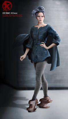 Effie Trinket Costume Illustration by Greg Hopwood. The Hunger Games: Mockingjay Part 2.