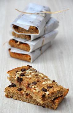 Barres tendres aux pommes Tentation, flocons d'avoine et pépites de chocolat - Dans la cuisine d'Audinette
