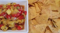 'Homemade' Tortillas with Grilled Pineapple Salsa