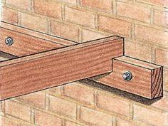 How to Build a Wall-Leaning Pergola   how-tos   DIY #pergolaideas #buildingagardenshed #howtobuildagardenshed