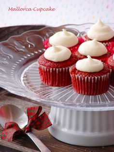 Mini cupcakes de terciopelo rojo infalible