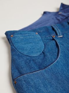 Levi's Red Men's Bagged High Waisted Indigo Jeans