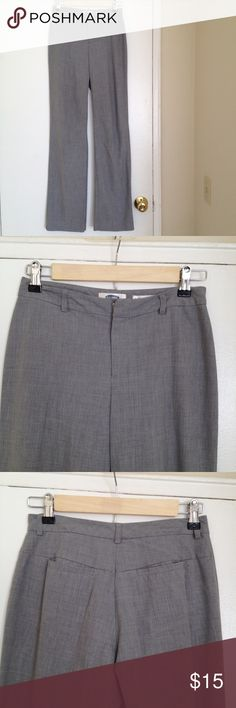 Gray Old Navy trouser pants. FINAL PRICE Gray Old Navy trouser pants. These pants are the perfect length if you're 5'7 or taller but the waist is a snug 27 inches. Great quality fabric with stretch cotton that is comfortable. Old Navy Pants Straight Leg