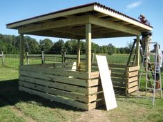 sheep shed, summer shade (this would work for other kinds of animals too)