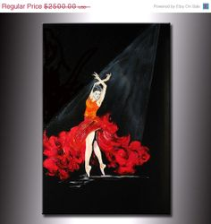 Original Abstract Painting Fine Art Flamenco by newwaveartgallery, $2000.00