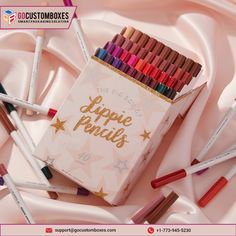Lip Pencil packaging comes in a variety of packaging designs custom packaging can make your product attractive.  #packaging #lippencil #boxes #customized #cosmetic #makeupartist #marketing #advertisemnt #GoPrintnigServices #USA Lipstick Box, Colourpop Lippie Stix, Lipstick Pencil, Colourpop Cosmetics, Beauty Makeup Tips, Diy Beauty, Makeup Tricks, Beauty Hacks, Simple Makeup Looks