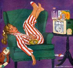 Vintage imagens para a criatividade.  Donas de casa (4) (500x462, 145KB)