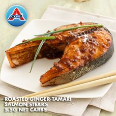 Combine orange juice, tamari, ginger, garlic, and oil for a delicious marinade on these salmon steaks. Fine for Phases 3 & 4.