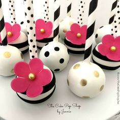 Kate Spade inspired Cake Pops created by Jennie at The Cake Pop Shop