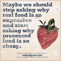 Sharing this little piece of thought via Eat Local Grown!