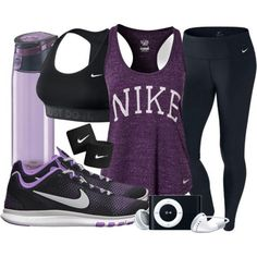 Purple workout clothes yes!!!
