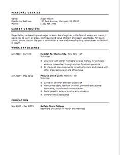 Teenage Resume Examples Glassdoor  Resume Templates  Pinterest  Sample Resume Resume .