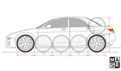 Car proportions by rattrap587.deviantart.com on @deviantART