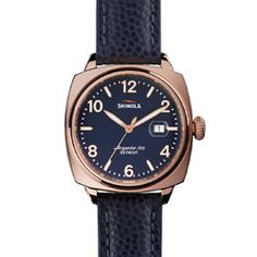 With a classic cushion case design, this polished rose gold piece borrows its name from the brakemen of the early 1900s. While it draws both on their strength as inspiration as well as the watch designs from that same era.