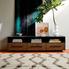 Massaro Metal-Wrapped Media Console - Hot-Rolled Steel | west elm