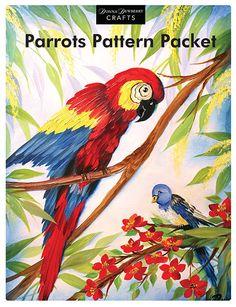 wOil Parrots Pattern Packet  www.dewberrycrafts.com