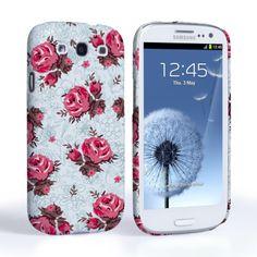 Caseflex Samsung Galaxy S3 Vintage Roses Wallpaper Hard Case – Light Blue #MothersDay #Flowers #Wallpaper #Illustration #Pattern #Blue #Pink #Roses #Rose #Holiday #Celebration #Gift #Present #Samsung #Galaxy #S3 #GalaxyS3 #SamsungS3 #Case #Cover #HardCase #PhoneCover