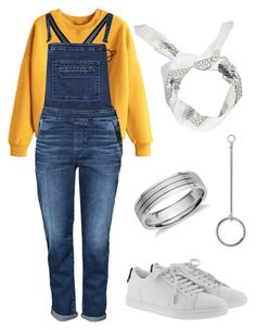 """""""Kim TaeHyung Outfit Inspired//BTS - Go Go"""" by jessy-693 ❤ liked on Polyvore featuring 7 For All Mankind, Yves Saint Laurent, Boohoo and Blue Nile"""
