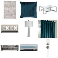 Teal And Grey, Curtains, Shower, Rain Shower Heads, Blinds, Showers, Draping, Picture Window Treatments, Window Treatments