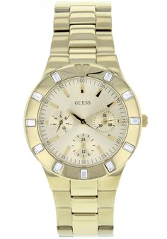 Price:$124.11 #watches Guess W13576L1, Stainless steel case, Stainless steel bracelet, Gold dial, Quartz movement, Scratch-resistant mineral, Water resistant up to 5 ATM - 50 meters - 165 feet Stainless Steel Bracelet, Stainless Steel Case, Mineral Water, Gold Watch, Rolex Watches, Quartz, Bracelets, Bags, Accessories