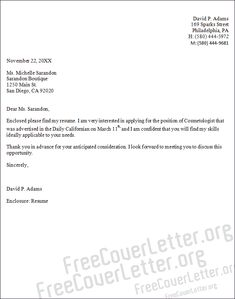 cover letter sample for cosmetology samples resume free resumes design - Cover Letter Examples Resume