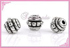 50pcs Charms Tibetan Silver Crafts Jewelery Making Spacer Rondelle Beads 8x7mm#Q