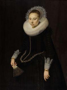 Portret van Maria Overrijn van Schoterbosch (1599/1600-1638), Cornelis van der Voort, 1622