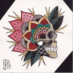 ideas for tattoo mandala skull art prints - ideas for tattoo mandala sk. - ideas for tattoo mandala skull art prints – ideas for tattoo mandala skull art prints - Traditional Tattoo Sketches, Traditional Tattoo Skull, Traditional Tattoo Flowers, Traditional Tattoo Old School, Kunst Tattoos, Skull Tattoos, Tattoo Drawings, Print Tattoos, Flash Art Tattoos