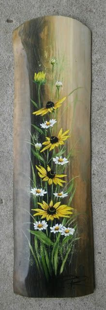Painting Wood Crafts Diy Etsy New Ideas Wood Painting Art, Pallet Painting, Tole Painting, Painting Flowers, Wood Pallet Art, Diy Wood, Art On Wood, Spring Painting, Painted Wood Signs