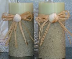 Karen's Garden Cottage: Come Play in the Sand.A Tutorial on Making Sand Candles! Sand Candles, Diy Candles, Decorating Candles, Decorating Ideas, Summer Decorating, Decor Ideas, Sand Crafts, Beach Crafts, Diy Craft Projects
