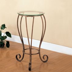 Wrought Iron Styled Plant Stand