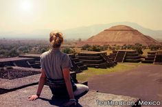 Enjoy the View in Teotihuacan, Mexico Romantic Destinations, Romantic Vacations, Romantic Places, Mexico Vacation, Mexico Travel, Vacation Spots, Merida Mexico, Visit Mexico, Destin Beach