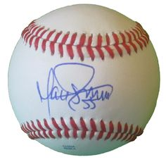 Matt Guerrier Autographed Rawlings ROLB1 Leather Baseball, Proof Photo