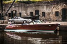 Riva Aquarama Lamborghini 350 GT, the fastest Riva Aquarama ever made with twin 350hp Lamborghini V12's. Now restored