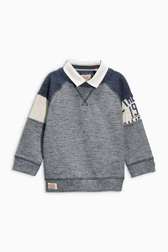 Buy Grey Nordic Mock Shirt (3mths-6yrs) from the Next UK online shop