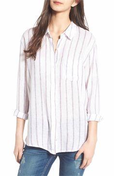 Main Image - Rails Charli Stripe Linen Blend Shirt