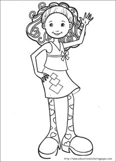 Groovy Girls colouring pages