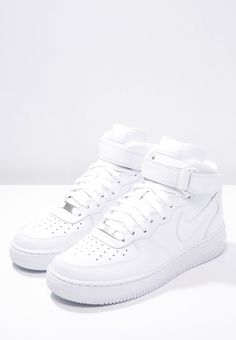Nike Sportswear AIR FORCE 1 MID - High-top trainers - white for Free delivery for orders over Nike Air Force 1 Outfit, Nike Air Force Ones, Nike Air Force High, Nike Shoes Air Force, Air Force 1 Mid, Nike Force 1, Dr Shoes, All Nike Shoes, White Nike Shoes