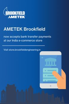 AMETEK Brookfield now accepts bank transfer payments at our India e-commerce store. Shop now! Center Of Excellence, India Online, World Leaders, Ecommerce, Centre, Learning, Store, Studying, Larger