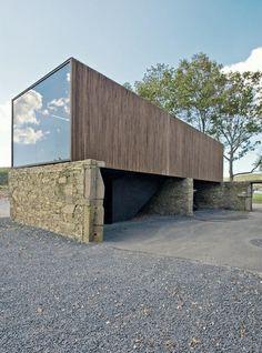 minimalist carriage house