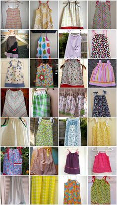 lots of pillowcase dress inspiration