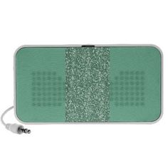 Mint Green with faux glitter Travel Speaker