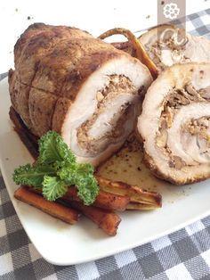 Lomo de cerdo relleno de nueces y manzana